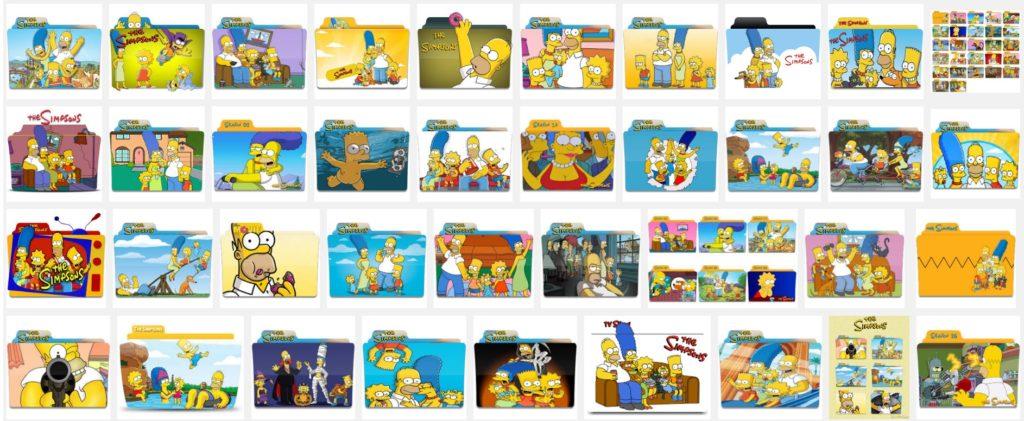 Simpsons Folder Icon