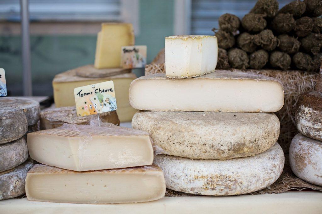 Käse im Schaufenster
