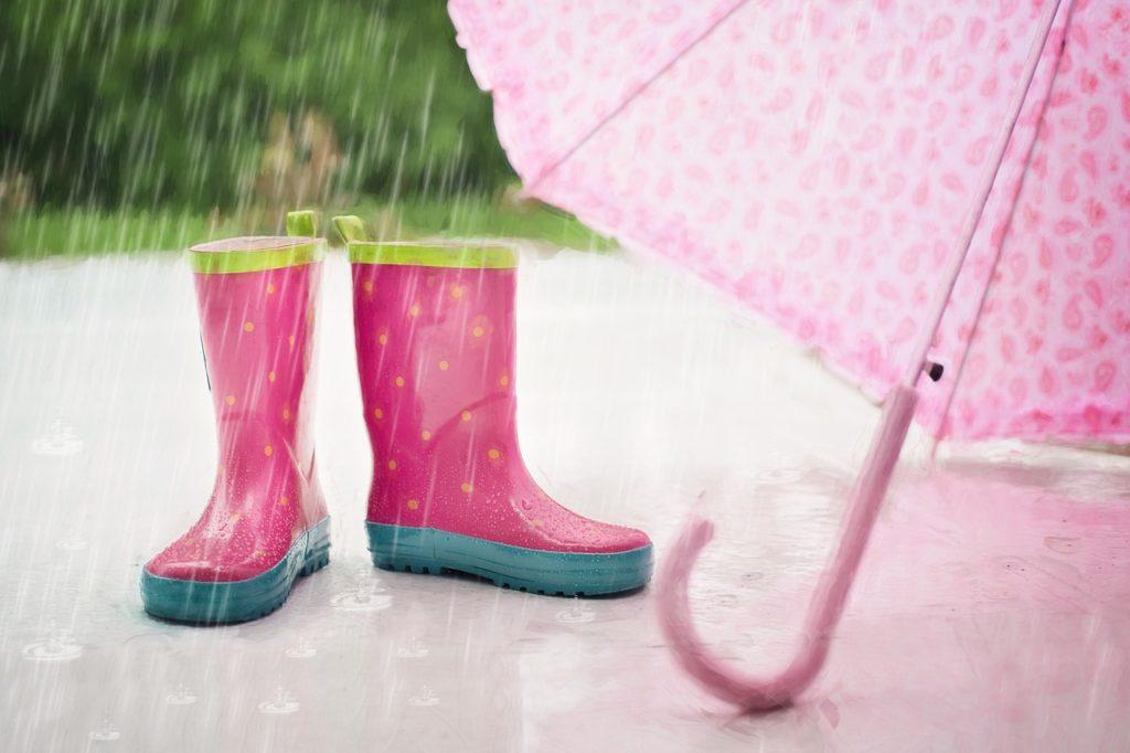 Gummistiefel im Regen